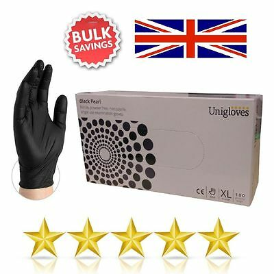 Strong Black Nitrile Powder & Latex Free Disposable Gloves Tattoo Mechanic Paint