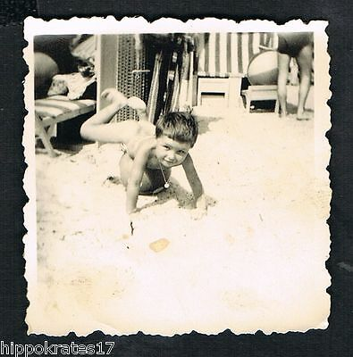 FOTO vintage PHOTO, Strand Mode fashion, on the beac, plage /38a