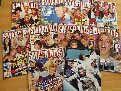 Smash Hits Magazine 1999 2000 ( 10 Issues) Job Lot - Steps / Britney Spears