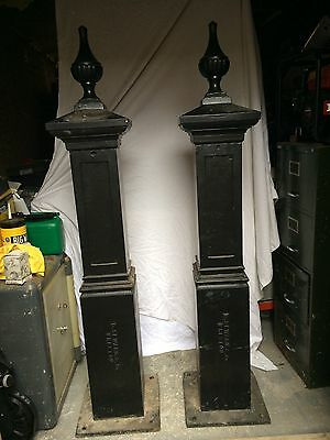Cast iron gate post Antique