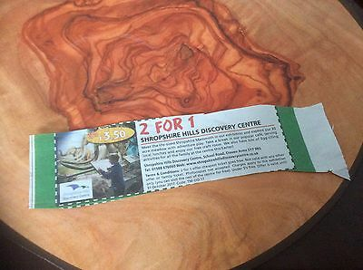 Shropshire hills discovery centre  2 for 1 entry ticket