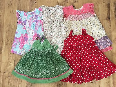 Girls Bundle 5 Summer Dresses Next Gap M&S Age 12/18 Months