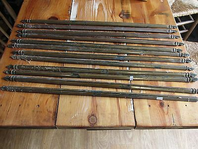 Brass Stair rods set of 12 Antique Brass French