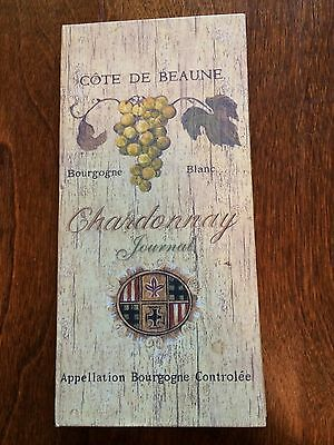 8 1/2 x 4 chardonnay journal, wine tasting journal book diary,hardback wine note