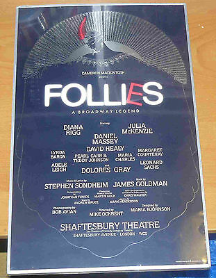 FOLLIES: A Broadway Legend - 1987 - Shaftesbury Theatre commemorative poster