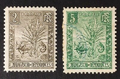Madagascar Stamps - Scott# 64 (Mint)  & 65 (Used)