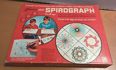 Kenner Spirograph No. 401 - classic toy 1968 - blue tray - COMPLETE with pens