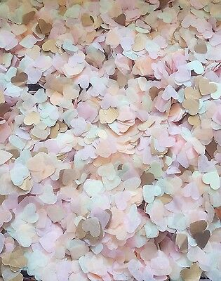 5000 MINI HEART Confetti - Assorted mix, Gold, Silver and pink, mint, blue ivory
