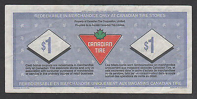 Canadian Tire Money - CTC S18-F - $1.00 - with the serial numbers missing