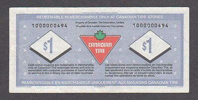 Canadian Tire Money - CTC S20-Fa - 1000000494 - Low Serial Number Replacement
