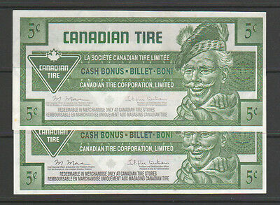 Canadian Tire Money - CTC S31-B11 - 5¢ - 0466263453 with gray signature panel