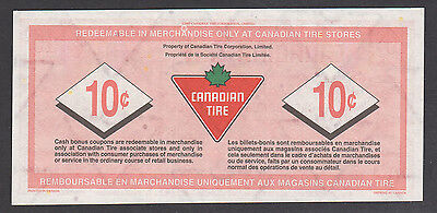 Canadian Tire Money - CTC S29-C - 10¢ - with the serial numbers missing
