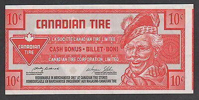 Canadian Tire Money - CTC S27-Ca02 - 10¢ - 9000131545 w/red ink on front offset