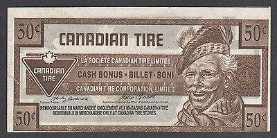 Canadian Tire Money - CTC S17-E - 50¢ - 0021760211 w/brown ink on front offset