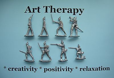 Tin Toy Soldiers Art therapy / WW1 German infantry 8 pcs soldier antique vintage
