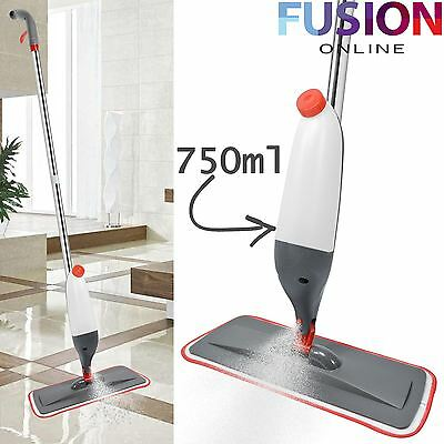 Hard Floor Spray Mop Water Spraying Cleaner Microfibre Cleaning Pad Wood Tiles