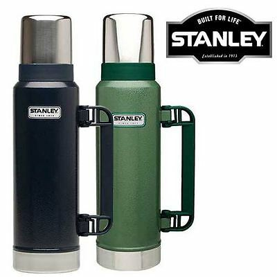 New Stanley 1.3L Green/navy Stainless Steel Flasks Vacuum Thermos Hot Drinks