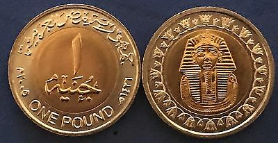 2005 Egypt, King Tut Mask 1 Pound,Pharaoh Theme, Uncirculated
