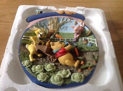 Bradford Exchange 3-D Plate Pooh's Hunnypot Adventures 5th in issue New & Boxed