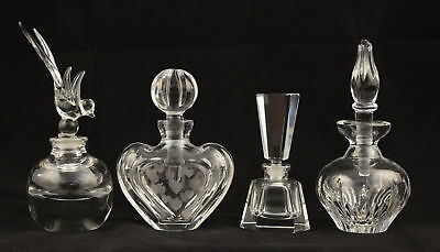 Lot of Four Perfume Bottles - Waterford & Unmarked