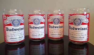 Budweiser Glasses; Set of 4, lightly used