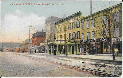 Pennsylvania Postcard: Clothing Store On Crystal Street East Stroudsburg, Pa