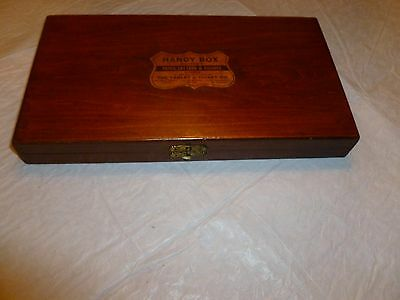 Vintage Willson's  Dove-Tailed Wood Box with Paper Label           C790