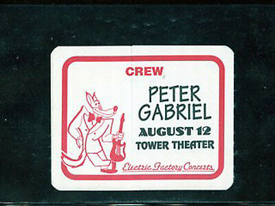 Peter Gabriel  - 1994 backstage pass crew - Tower Theater Upper Darby, PA