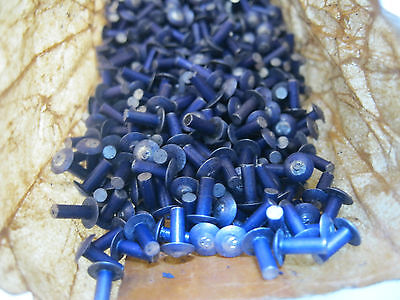 "50 - 3/32"" x 1/4"" Long Aluminium Alloy Mushroom Head Solid Rivets."