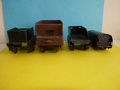 Lot 4 wagons tenders pour locomotive à vapeur JEP Hornby en O