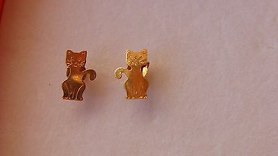Boucles d'oreilles chat en or18 carats