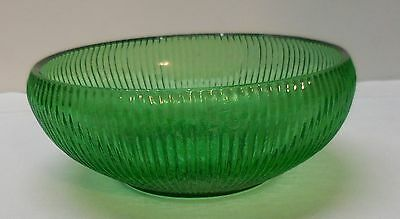 Ribbed Bowl Planter Cactus Potpourri Shells Green Glass EO Brody Cleveland O USA