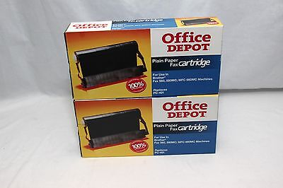 Office Depot Fax Cartridge Brother PC 401 Set of 2
