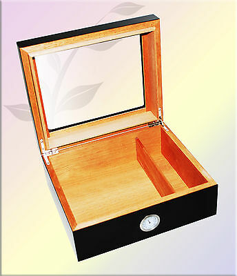 Black glass Top Humidor 50 ct - Free Cutter