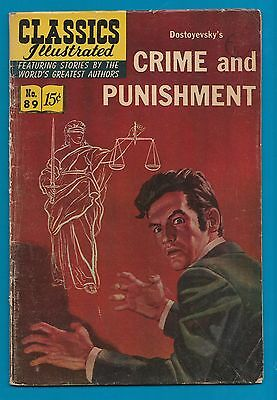 Classics Illustrated Comic 1966  Crime & Punishment # 89.    #771