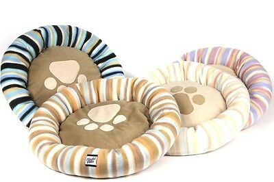Pet Bed Dog Cat Puppy Kitten Round Soft Warm Fleece Lining Cosy Washable Cushion