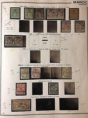 French Offices in Morocco Stamps - 1891-1900 HIGH VALUE$$