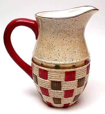 Apple Basket Water Pitcher Porcelain Kitchenware Decor 8.5 x 5 x 8""
