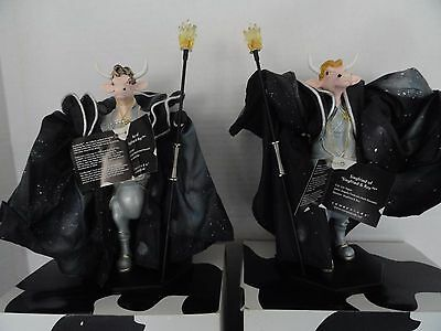 "Cow Parade ""siegfried & Roy"" #7280 & 7281"" Magicians 2003 Vegas Numbered, Tags"