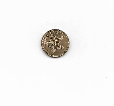 Bahamas Coin, 1982, 1 cent, Starfish, Circulated