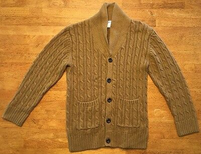 Gymboree Boy's Brown Long Sleeve Cable Knit Cardigan Sweater - Size: Medium 7/8