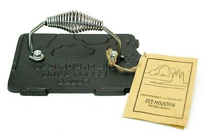 """Old Mountain Cast Iron Cow Grill Press 6.5 x 4.5"""" Cookware w/ Lifting Handle"""