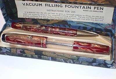 VINTAGE INK VIEW VACUUM FILL (Mentmore?) - BOXED SET - NICE LOOKING ITEMS