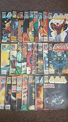 Marvel UK Punisher comics job lot #s 3 to 21 and 24 to 30