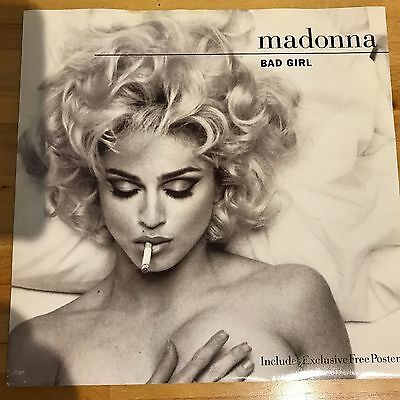 """Madonna – Bad Girl 12"""" Vinyl Single In Picture Cover  1993 - W0154TW"""