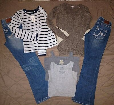6 Women's Size 3 Sm. Lot~Maurices Boot Jeans EUC~Forever 21 NWT~2 Tanks+Sweater
