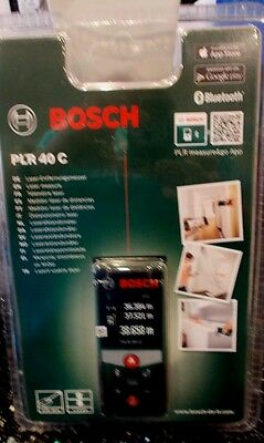 BOSCH PLR 40 C DIGITAL LASER MEASURE BLUETOOTH new sealed free postage