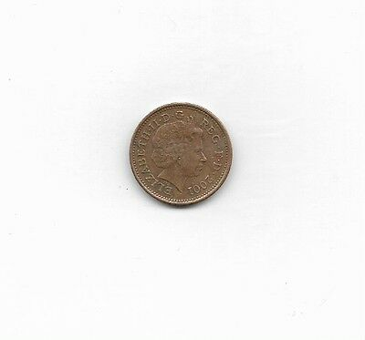 Great Britain Coin, 2001, 1 cent, Circulated