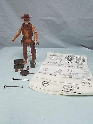 Vintage 1965 LOUIS MARX JOHNNY WEST with ACCESSORIES toy figure doll 2062