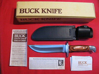 Buck USA Vintage 124 Frontiersman Survival Bowie Knife